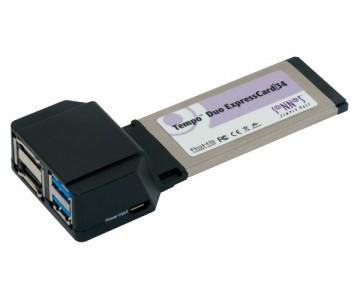 Sonnet Tempo SATA 6Gb & USB 3.0 ExpressCard/34 (2+2 ports)